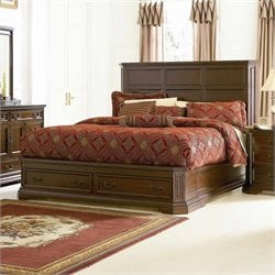 Coaster Foxhill Storage Platform Bed in Deep Brown Finish - Queen