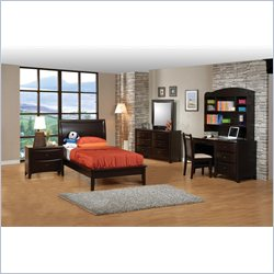 Coaster Phoenix Platform Bed in Cappuccino Finish - Twin