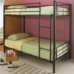 Coaster Denley Metal Bunk Bed in Black Finish - Twin over Twin
