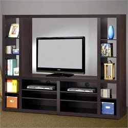 Coaster Wall Units Contemporary Entertainment Wall Unit in Cappuccino