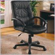 Office Chairs Casual Faux Leather Office Task Chair in Black