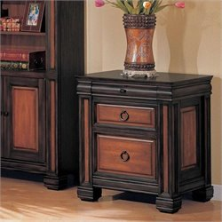 Coaster Chomedey 2 Drawer File Cabinet in Black and Cherry
