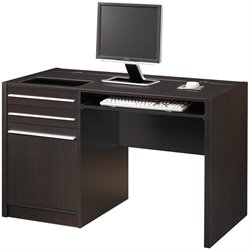 Coaster Ontario Single Pedestal Computer Desk with Charging Station