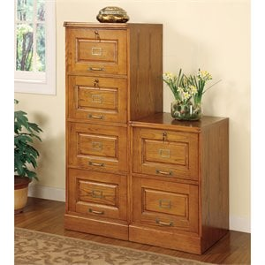 Coaster Palmetto 4 Drawer File Cabinet in Oak