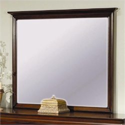 Coaster Versailles Vertical Dresser Mirror in Mahogany Stain Finish