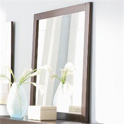 Coaster Lorretta Framed Dresser Mirror in Dark Brown Finish