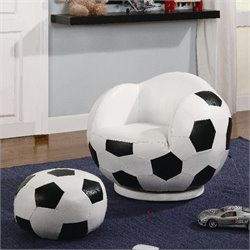 Coaster Kids Sports Chairs Small Kids Soccer Chair and Ottoman
