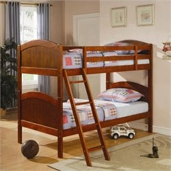 Coaster Twin over Twin Bunk Bed in Dark Pine Finish
