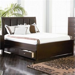 Coaster Lorretta Platform Storage Bed in Dark Brown Finish - Queen
