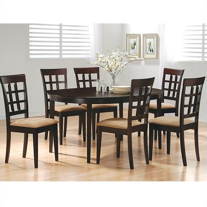 Hyde 7 Piece Dining Set in Cappuccino
