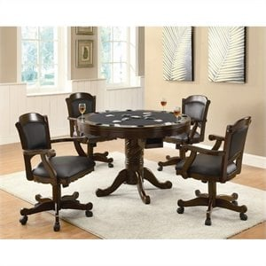 Coaster Turk 3-in-1 Round Poker Table Set