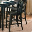 ADD TO YOUR SET: Coaster Pines Counter Height Slat Back Dining Chair in Black