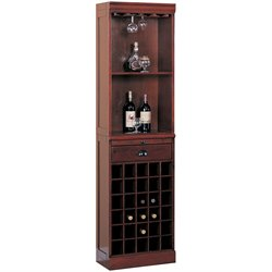 Coaster Lambert Traditional Wine Wall Bar Unit in Cherry