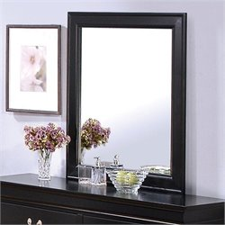 Coaster Louis Philippe Dresser Mirror in Deep Black