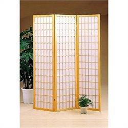 Coaster Three Panel Screen Room Divider in Natural