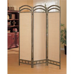 Coaster Three Panel Screen Room Divider in Antique Gold