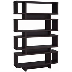 Coaster Four Tier Modern Bookcase in Cappuccino