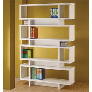 Coaster Four Tier Modern Bookcase in White