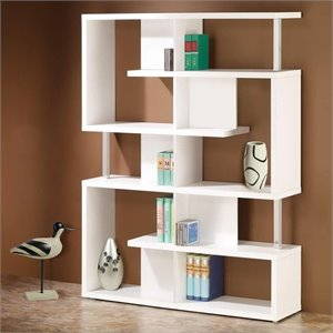 Coaster Modern Cube Bookcase in White