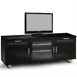 Coaster Contemporary TV Console in Black