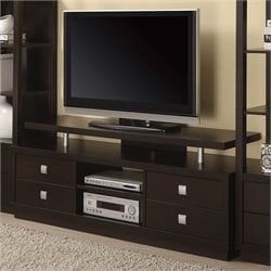 Coaster Wall Units Casual TV Console in Cappuccino
