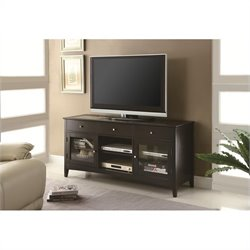 Coaster TV Console with CONNECT-IT Power Drawer in Cappuccino