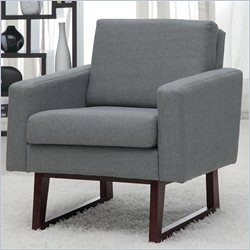 Coaster Club Chair with Exposed Wood in Gray