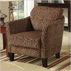 Coaster Club Chair in Cheetah Print