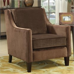 Coaster Accent Chair in Microvelvet Cappuccino
