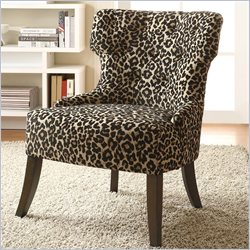Coaster Accent Chair in Leopard Print