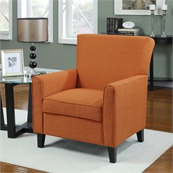 Coaster Fabric Club Arm Chair in Orange