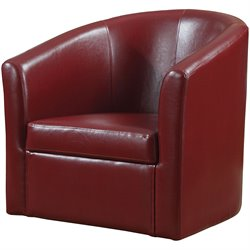 Coaster Club Chair in Red Faux Leather