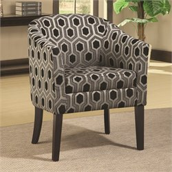 Coaster Club Barrel Chair in Chenille Geometric Print