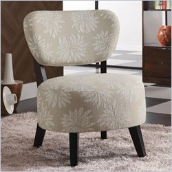Coaster Accent Chair with Padded Seat in Light Floral Motif