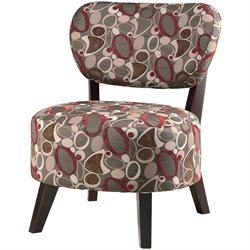 Coaster Chair with Padded Seat in Dark and Light Floral Fabric