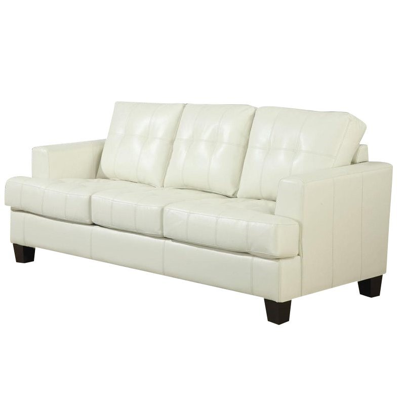 Coaster Samuel Leather Sleeper Sofa In Cream 21032249984