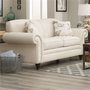 Coaster Norah Loveseat with Antique Inspired Detail in Oatmeal