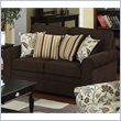 ADD TO YOUR SET: Coaster Rosalie Stationary Loveseat with Accent Pillows in Dark Brown