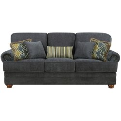 Coaster Colton Traditional Upholstered Sofa in Smokey Grey