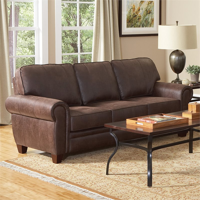 Coaster Bentley Elegant And Rustic Microfiber Sofa In