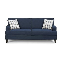 Coaster Finley Linen Sofa in Blue