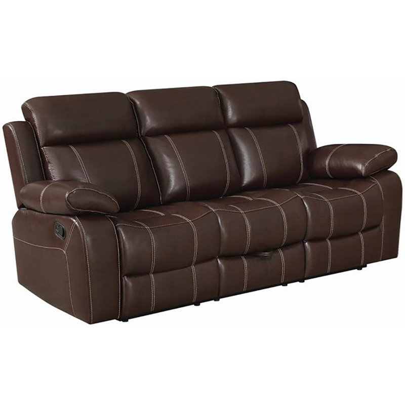 Myleene Leather Motion Sofa in Brown