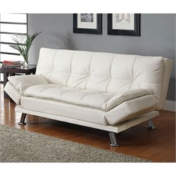 Coaster Contemporary Styled Sofa in White