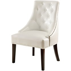 Coaster Upholstered Accent Chair in White Finish