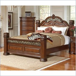 Coaster DuBarry Bed in Rich Brown Finish - Queen Size