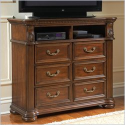 Coaster DuBarry Media Chest in Rich Brown Finish