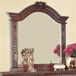 Coaster Grand Prado Mirror in Warm Cherry Finish
