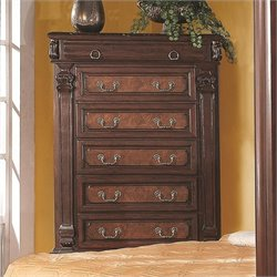 Coaster Grand Prado Chest in Warm Cherry Finish