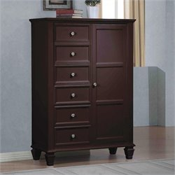 Coaster Sandy Beach Door Chest in Cappuccino Finish