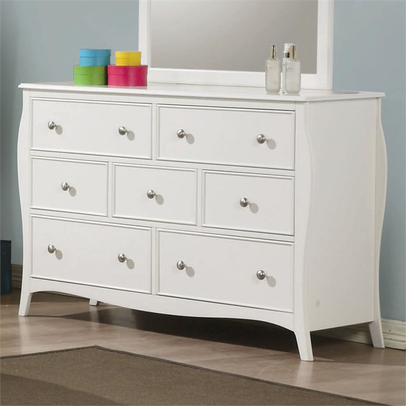 Coaster Dominique 7 Drawer Dresser in White Finish